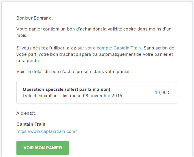 Mail de relance : Email marketing