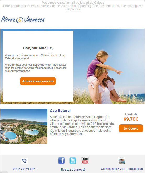 Exemple email retargeting