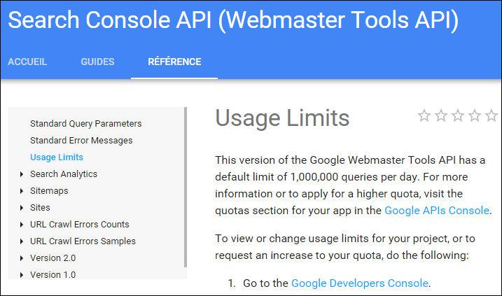 API Search Console Google