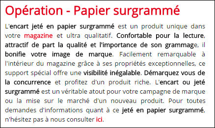 Papier surgramme