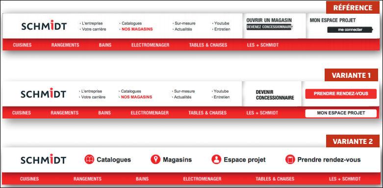 Header site web
