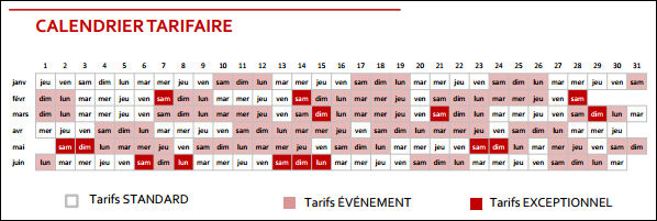 Calendrier Definition.Definition Calendrier Tarifaire Definitions Marketing