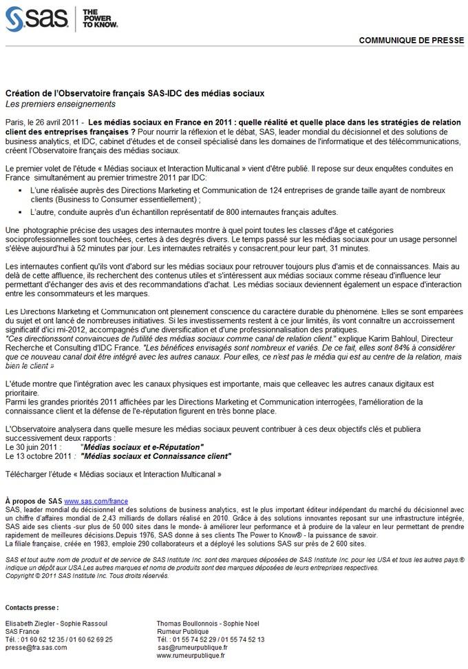 Célèbre Définition : Communiqué de presse » Définitions marketing VI36