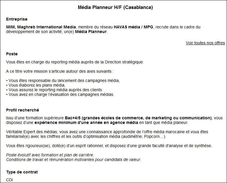 Préférence Définition : Media-planneur » Définitions marketing WT39