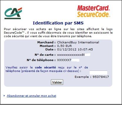D finition 3d secure d finitions marketing - Numero de telephone de la chambre des commerces ...